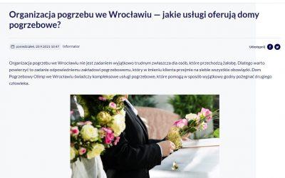 Zakład Pogrzebowy Olimp w Doba.pl Wrocław